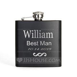 Groomsmen Gifts - Personalized Stainless Steel Flask (258176293)