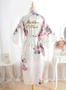 Silk Mom Floral Robes Glitter Print Robes (248176109)