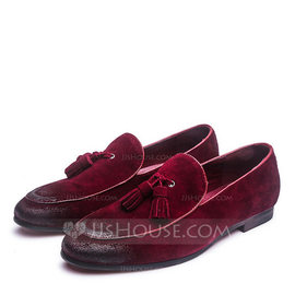 Men's Real Leather Tassel Loafer Casual Men's Loafers (260187391)