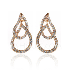 Shining Alloy With Crystal Ladies' Earrings (011027299)