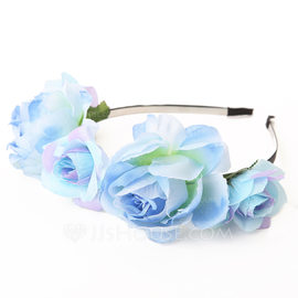 Lovely Fabric Flower Girl's Headwear/Flowers & Feathers/Headbands (042089636)