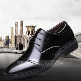 Men's Microfiber Leather Flats Latin Modern Dance Shoes (053170214)