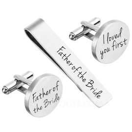 Groom Gifts - Personalized Modern Alloy Cufflinks Tie Clip (257188742)