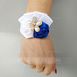 Satin Wrist Corsage (Sold in a single piece) - (123182770)