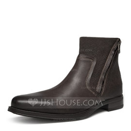 Men's Real Leather Chelsea Casual Men's Boots (261176699)