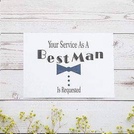 Groomsmen Gifts - Elegant Card Paper Wedding Day Card (258176310)