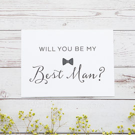 Groomsmen Gifts - Classic Card Paper Wedding Day Card (258176313)