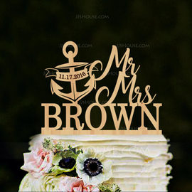 Personalized Mr. & Mrs. Wood Cake Topper (119187799)