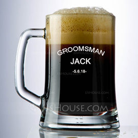 Groomsmen Gifts - Personalized Classic Glass Beer Mug (258176282)