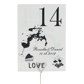 Personalized Delicate Pearl Paper Table Number Cards (Set of 10) (118032267)