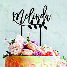 Personalized Acrylic/Wood Cake Topper (119217033)
