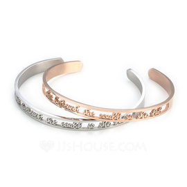 Personalized Unisex Unique Stainless Steel Name Bracelets Bracelets For Bridesmaid/For Friends/For Couple (011208296)