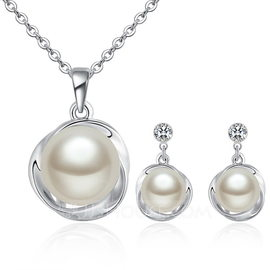 Elegant Alloy/Pearl/Crystal Ladies' Jewelry Sets (011190032)
