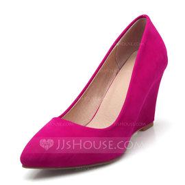 Femmes Suède Talon compensé Compensée avec Autres chaussures