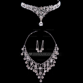 Beautiful Alloy/Rhinestones Ladies' Jewelry Sets (011040396)