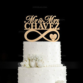 Personalized Mr. & Mrs. Wood Cake Topper (119187788)