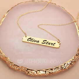 Bridesmaid Gifts - Personalized Fascinating Sterling Silver Name Necklace (256215324)
