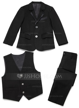 Boys 3 Pieces Elegant Ring Bearer Suits /Page Boy Suits With Jacket Vest Pants (287199773)