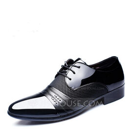 Men's Microfiber Leather Lace-up Dress Shoes Work Men's Oxfords (259173763)