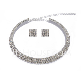 Elegant Alloy With Crystal Ladies' Jewelry Sets (011027587)