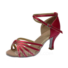 Women's Satin Heels Sandals Latin With Ankle Strap Dance Shoes (053053106)