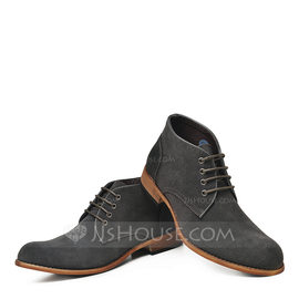 Men's Real Leather Casual Men's Boots (261176673)