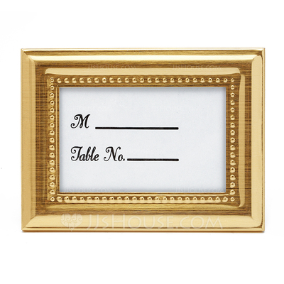 Rectangular Zinc Alloy Place Card Holders/Photo Frames
