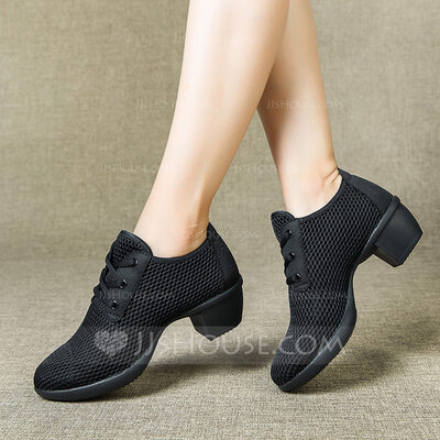 Women's Cloth Heels Latin Modern Jazz Dance Shoes