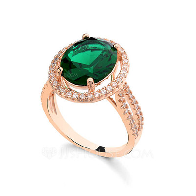 Unique Alloy With Rhinestone/Cubic Zirconia Ladies' Rings