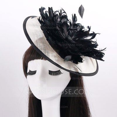Ladies' Fashion Cambric/Feather With Fascinators