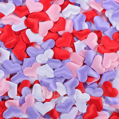 Heart Shaped Satin Sponge Confetti (set of 100)