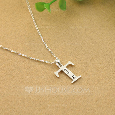 Personalized Ladies' Peace Symbol 925 Sterling Silver Name/Engraved Necklaces For Mother/For Friends/For Couple