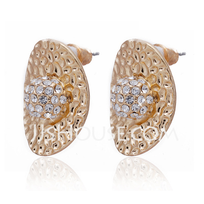 Elegant Alloy With Crystal Ladies' Earrings