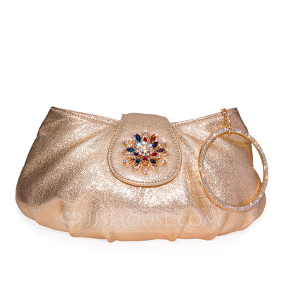 Delicate Genuine leather/Cow Leather Clutches/Fashion Handbags/Luxury Clutches