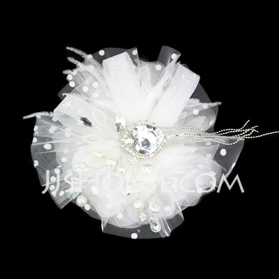Kids Gorgeous Feather Fascinators With Rhinestone