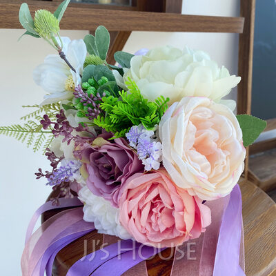 Classic Hand-tied Imitation Pearl/Artificial Flower Bridal Bouquets (Sold in a single piece) - Bridal Bouquets