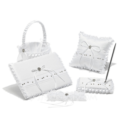 Pure Elegance Collection Set in Satin With Rhinestones