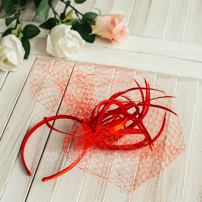 Ladies' Charming Cambric With Bowknot Fascinators