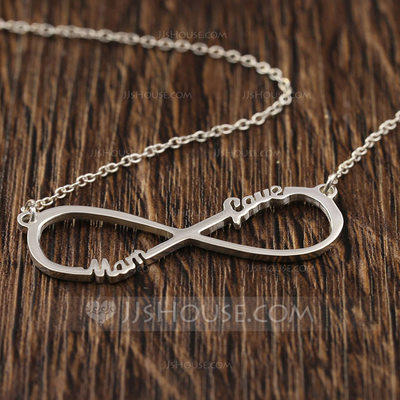 Personalized Ladies' Eternal Love 925 Sterling Silver Name Necklaces Necklaces For Bridesmaid/For Mother