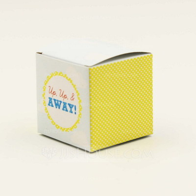 Elegant Cubic Favor Boxes (Set of 12)