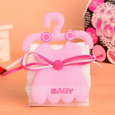 """""""Baby"""" Basket Favor Bags With Ribbons (Set of 12)"""