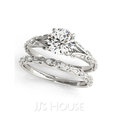 Stackable Round Cut 925 Silver Bridal Sets