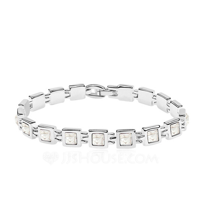 Exquisite Alloy/Platinum Plated With Crystal Ladies' Bracelets