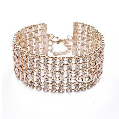 Bangles & Cuffs Alloy With Crystal Women's Bracelets