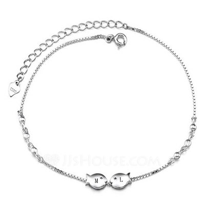 Personalized Ladies' Elegant Sterling Silver Engraved Body Jewelry For Bride/For Bridesmaid