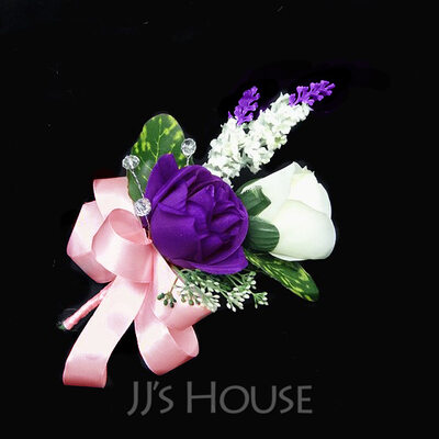 Lovely Free-Form Satin/Cotton Boutonniere