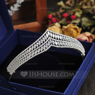 Charming Alloy/Zircon Tiaras (Sold in single piece)