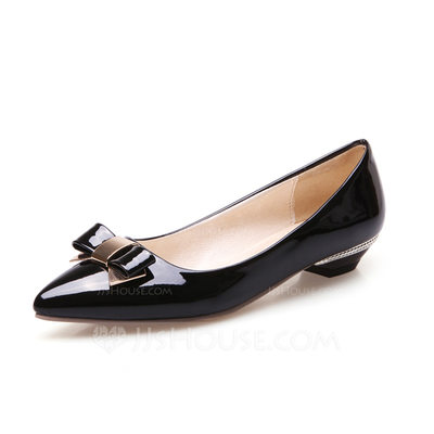 Women's Leatherette Low Heel Pumps With Bowknot shoes