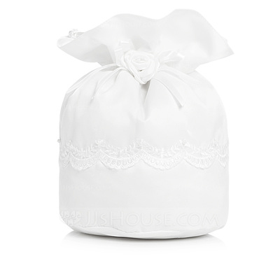 Fashional Satin With Imitation Pearl/Lace Bridal Purse