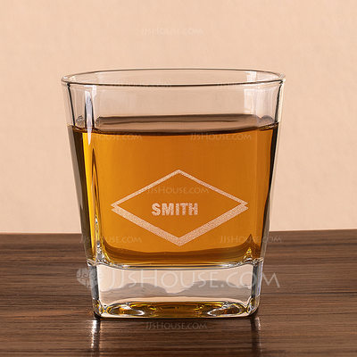 Groomsmen Gifts - Personalized Elegant Glass Whisky Glass